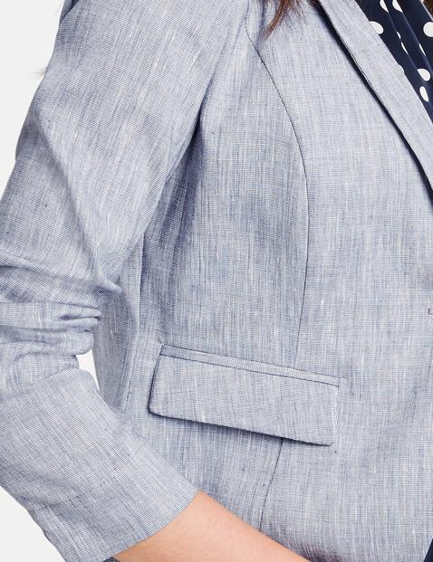 Taillierter Blazer aus Leinen-Mix
