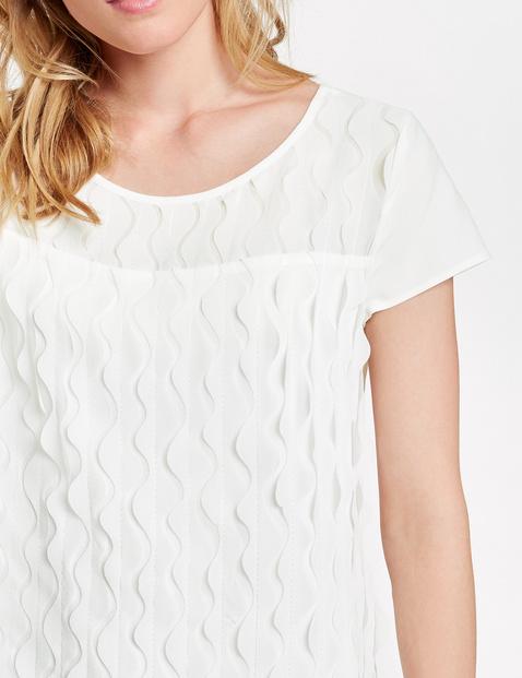 Blouseachtig shirt met golvend design