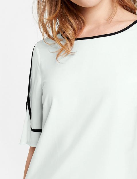 Blusenshirt mit Kontrastblenden