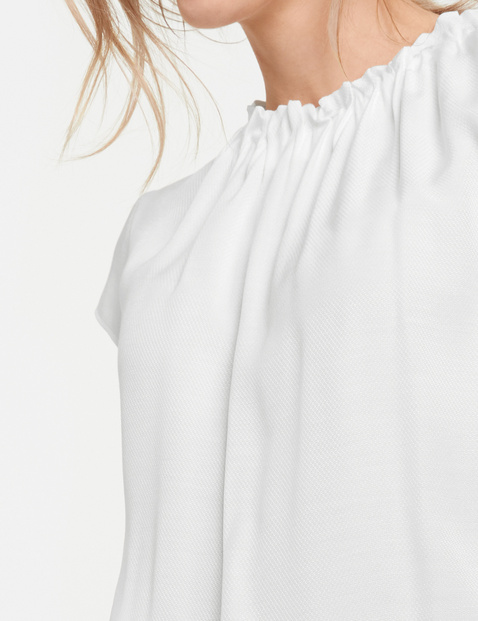 Blusenshirt mit gekräuseltem Ausschnitt
