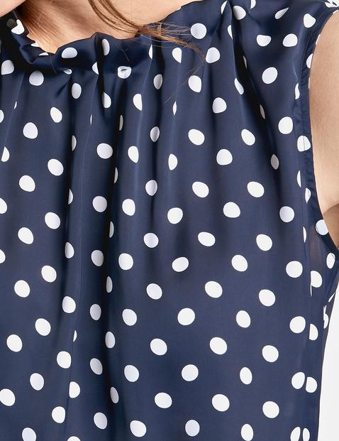 Ärmellose Bluse mit Dots