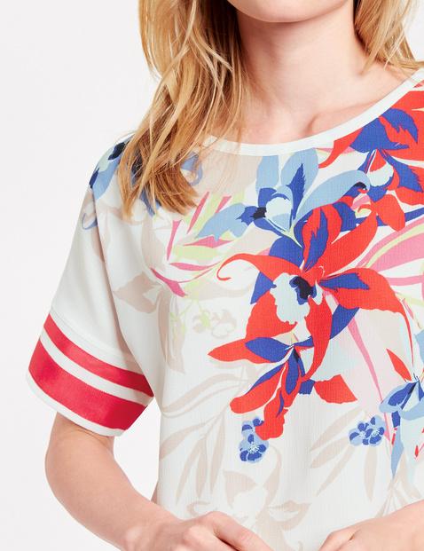 Blusenshirt mit platziertem Print