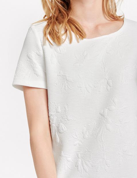 Koszulka z krótkim rękawem w żakardowy wzór