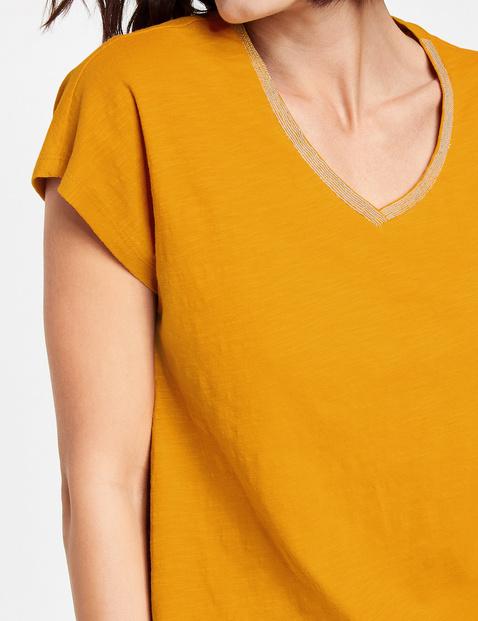 Shirt mit Lurexband am Ausschnitt