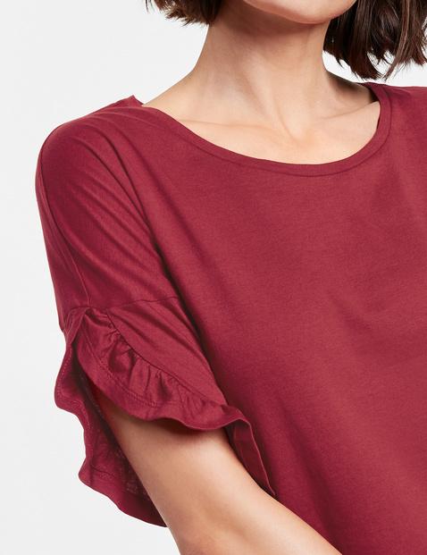 Shirt mit Rüschen am Arm