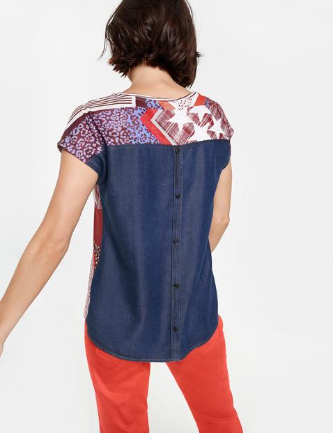 Shirt mit Jeans-Rücken