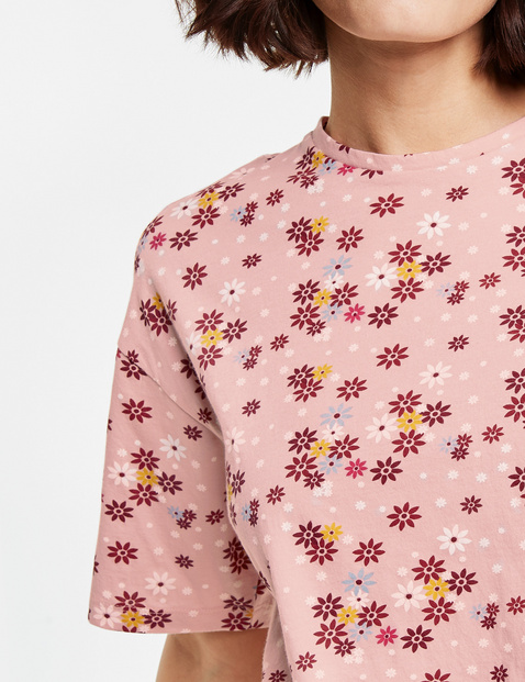 Legeres Shirt mit Blumen-Print