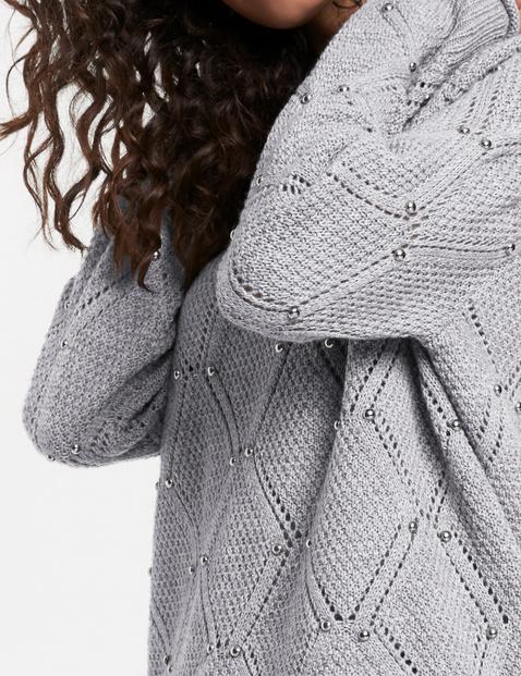 Pullover mit Rauten-Struktur