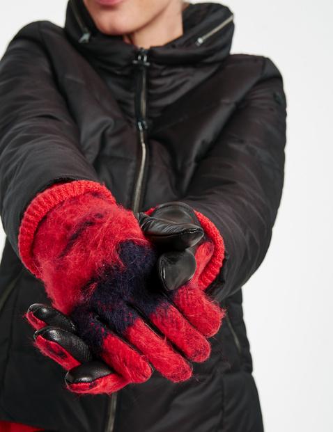 Skórzane rękawiczki w kratkę
