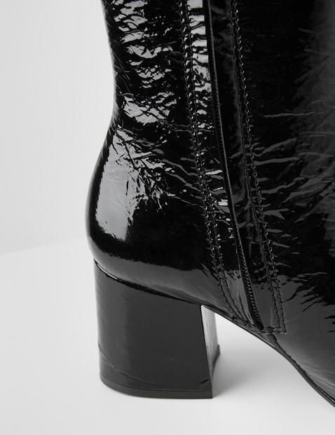 Stiefelette aus Lackleder