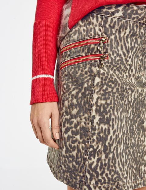 Spódnica mini ze zwierzęcym nadrukiem
