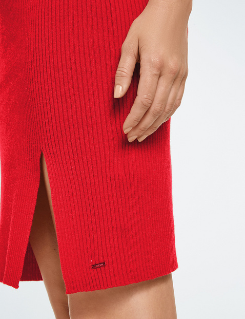 Gebreide rok met loopsplit