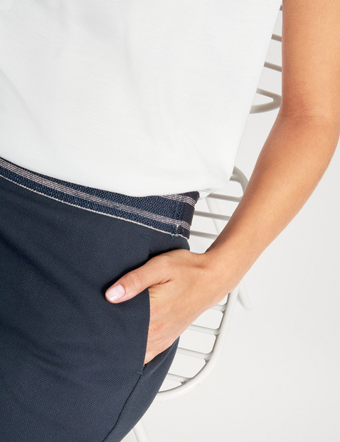 High lounge trousers with an elasticated waistband