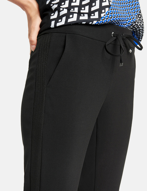Lounge Pants High mit Galonstreifen