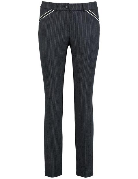 Jacquard broek Slim Peg Leg