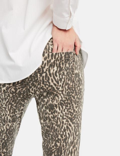 Skinny TS jeans met luipaardprint