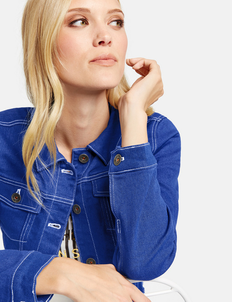 Jeansjacke aus Coloured-Denim