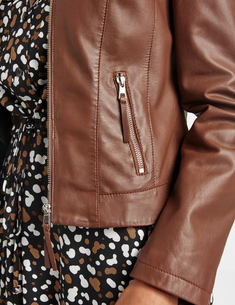 Lamb nappa leather jacket