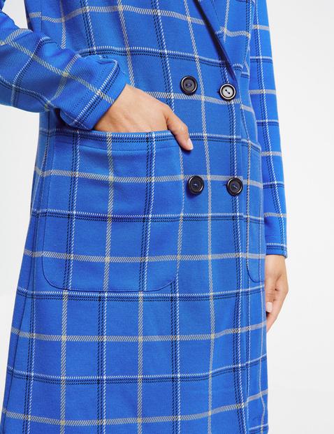 Krótki płaszcz we wzór w kratkę