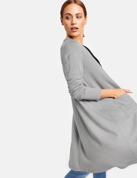 Długi dżersejowy sweter