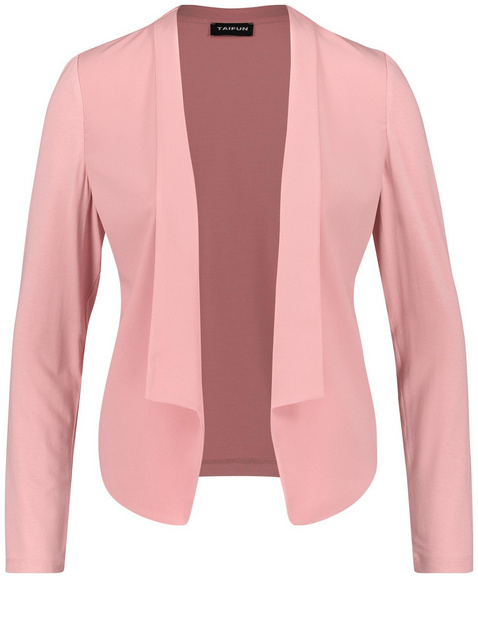 Blazer jacket with a material mix