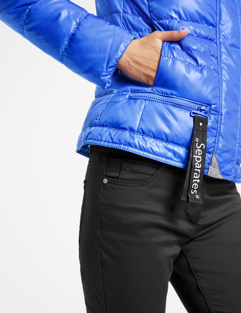 Quilted jacket with zip details