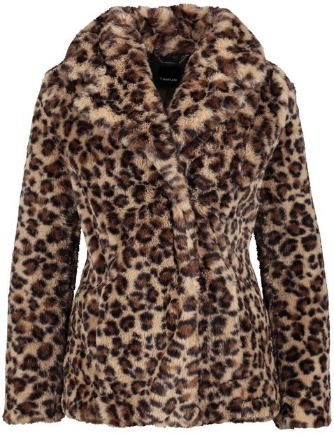 Faux fur jacket in an animal design