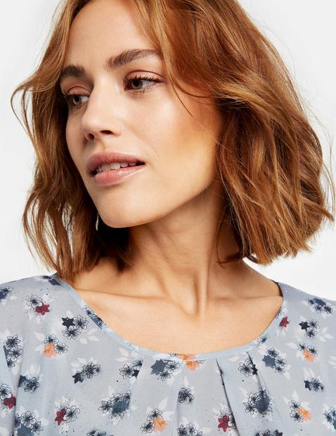 Blusenshirt mit floralem Allover-Print