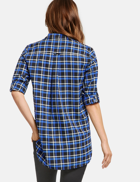 Check blouse in flannel fabric