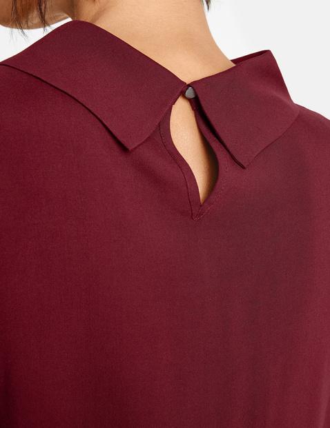 Blouseachtig shirt met opstaande kraag