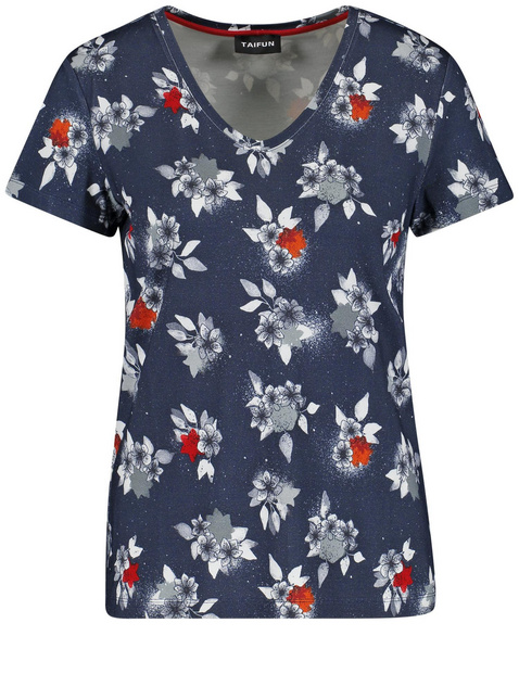 T-shirt with a floral print