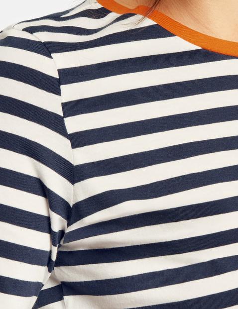 Geringeltes Baumwoll-Shirt