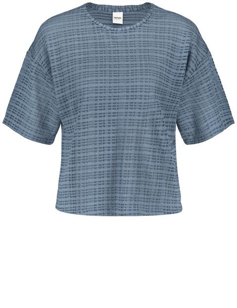 Koszulka oversize z fakturowanego dżerseju