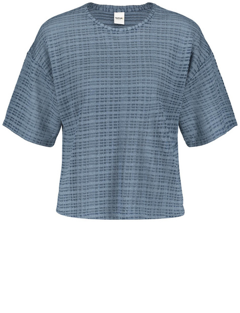Oversized-Shirt aus Struktur-Jersey