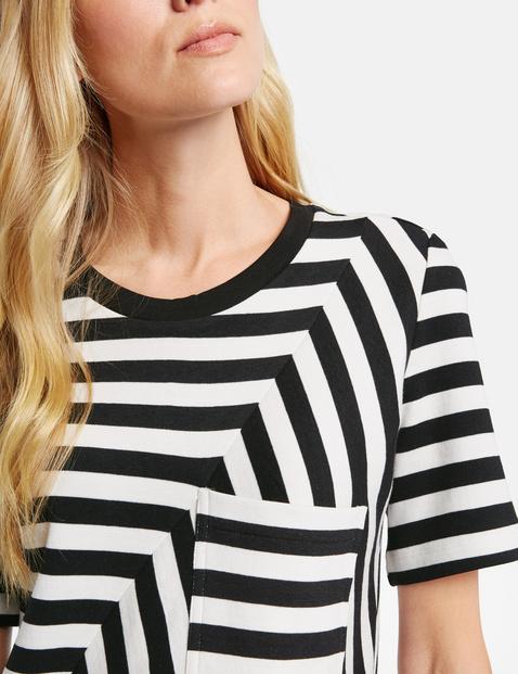 Katoenen shirt met gestreept design