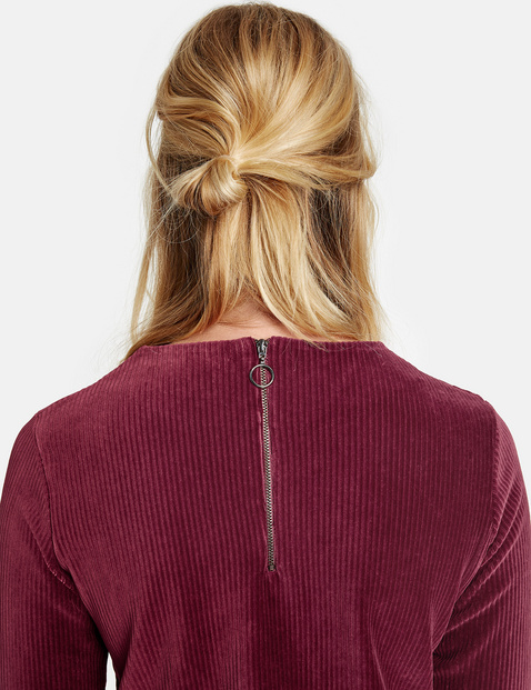 Soft jersey corduroy long sleeve top