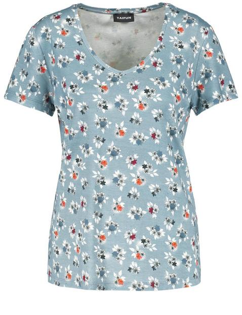 T-shirt w kwiaty