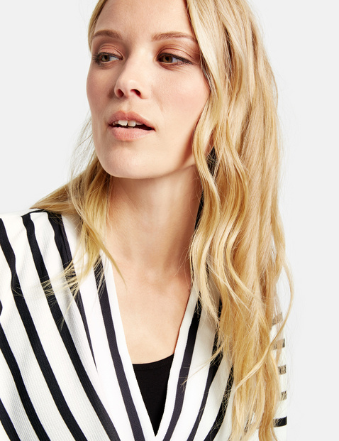 2-in-1 blouse met wikkeleffect