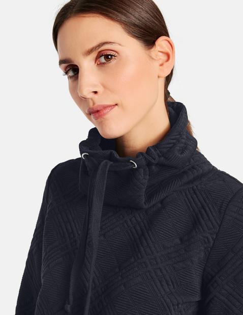 Sweatshirt mit Karo-Struktur