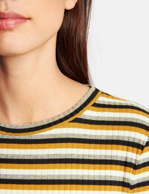 Ringel-Shirt mit Rippen-Struktur