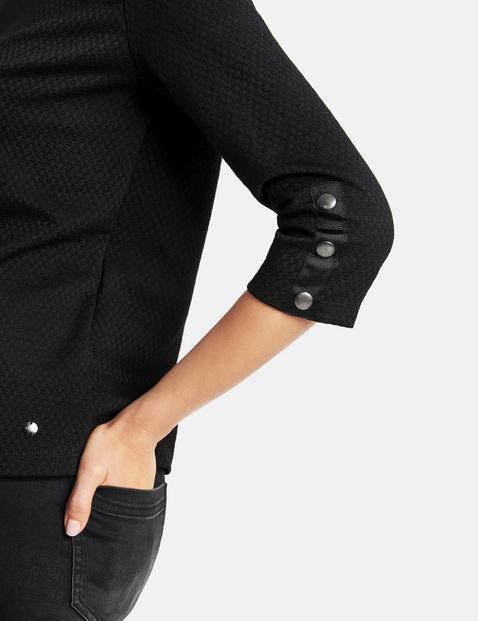 Bluzka z rękawem o dł. 3/4 z fakturowanego jerseyu