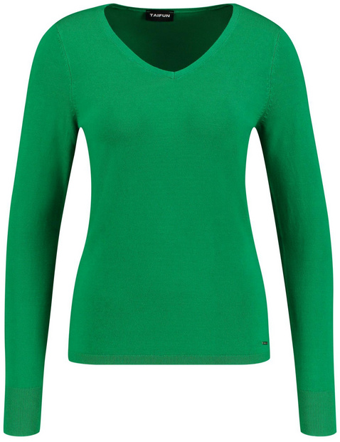 Basic-Pullover mit V-Neck