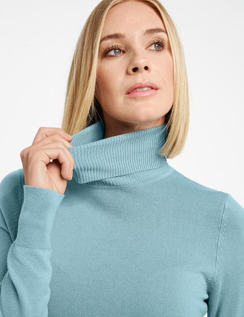 Basic Rollkragen-Pullover