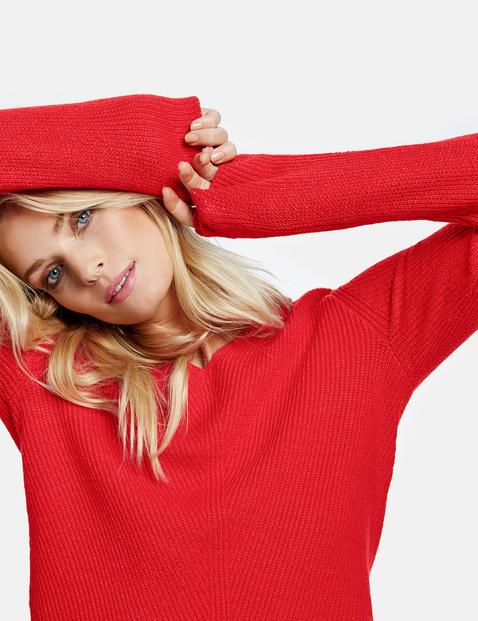 Pullover mit tiefem Ausschnitt