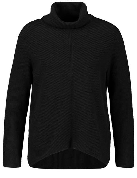 Lässiger Rollkragen-Pullover