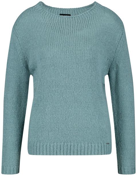 Sweter z błyszczącą przędzą