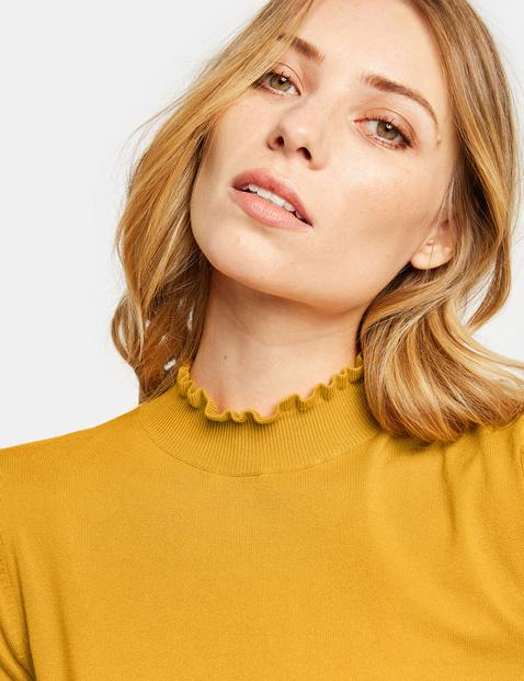Pullover mit Rüschen-Stehkragen