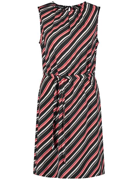 Sommerkleid mit Diagonal-Streifen