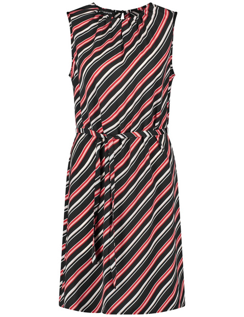 Summer dress with diagonal stripes