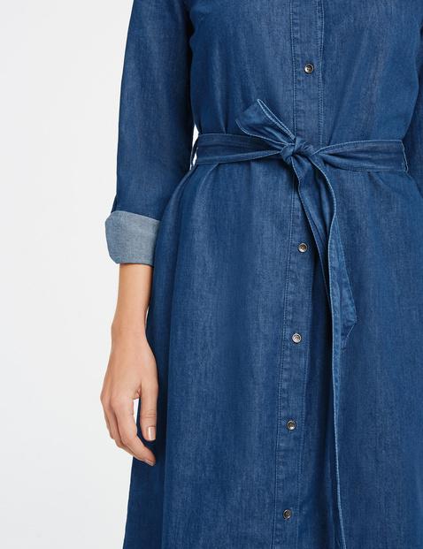 Shirt dress with a denim look